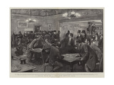 A Police Raid on a West-End Betting Club Giclee Print by Henry Marriott Paget