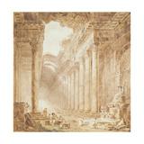 A Colonnade in Ruins, 1780 Reproduction procédé giclée par Hubert Robert