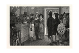 Women at the Polls in New Jersey in the Good Old Times Gicléedruk van Howard Pyle