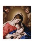 Madonna ja lapsi Giclée-vedos tekijänä Il Sassoferrato