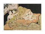Two Lovers with Night Background Giclee Print by Isoda Koryusai