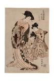 Kanaya Uchi Ukifune Ukifune of the Hose of Kanaya. Koryusai Giclee Print by Isoda Koryusai