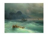 The Shipwreck, 1873 Giclée-tryk af Ivan Konstantinovich Aivazovsky