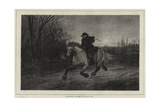 The Belated Traveller Giclee Print by Heywood Hardy