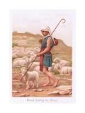 David Tending His Sheep Giclee Print by Henry Ryland