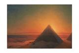 The Great Pyramid at Giza, 1878 Giclée-tryk af Ivan Konstantinovich Aivazovsky