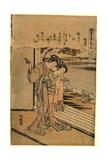 Ogiya Ureshino Shugetsu Giclee Print by Isoda Koryusai