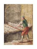 Spinning Cotton Giclée-Druck von Jan van Grevenbroeck