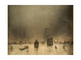 A Foggy Night in London Giclée-tryk af James Abbott McNeill Whistler