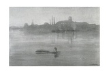 Nocturne: the River at Battersea, 1878 Giclée-tryk af James Abbott McNeill Whistler