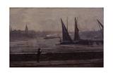 The Thames from Battersea Bridge, 1863 Giclée-tryk af James Abbott McNeill Whistler