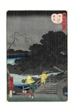 Night Rain at Makura Bridge, November 1861 Giclee Print by Hiroshige II