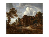 Farmhouses on a High Road, 1658-60 Giclee Print by Jacob Isaaksz Ruisdael