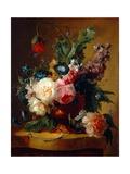 Flower Still-Life, 1740 Reproduction procédé giclée par Jan van Huysum