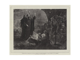 Introduction of Christianity into Britain Giclee Print by James Elder Christie