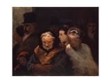 Leaving the Theater, C.1865 Reproduction procédé giclée par Honore Daumier