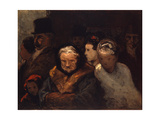 Leaving the Theater, C.1865 Lámina giclée por Honore Daumier