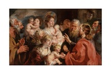 Suffer the Little Children to Come Unto Me, 1615-16 Giclee-trykk av Jacob Jordaens