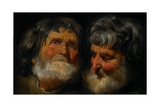 Two Studies of the Head of an Old Man, C.1630 Giclee-trykk av Jacob Jordaens