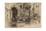Two Doorways from The Second Venice Set, 1879-1880 Giclée-tryk af James Abbott McNeill Whistler