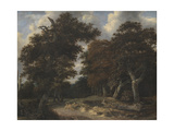 Road Through an Oak Forest, 1646-47 Giclee Print by Jacob Isaaksz Ruisdael