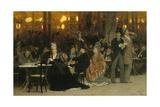 A Parisian Cafe, 1875 Gicléedruk van Ilya Efimovich Repin