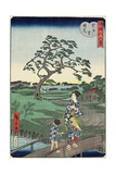 Weather Clearing at Sekiya Village, November 1861 Giclee Print by Hiroshige II
