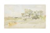 Landscape with Farm Buildings, C.1884 Reproduction procédé giclée par James Abbott McNeill Whistler