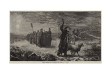 French Shepherds Going to Midnight Mass Reproduction procédé giclée par James Crawford Thom