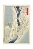 Snow at the Kiso Gorge in Shinshu Province, November 1859 Giclee Print by Hiroshige II