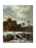 Landscape with Waterfall, C.1665 Giclee Print by Jacob Isaaksz Ruisdael