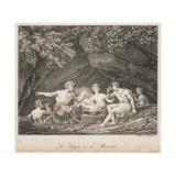 La Satyre Et Le Passant, 1819 Giclee Print by Hippolyte Lecomte