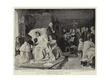 The Mozart Centenary, Mozart's Last Moments Giclee Print by Hermann Kaulbach