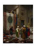 The Carpet Merchant, C.1887 Giclée-tryk af Jean Leon Gerome