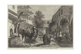 Khan or Inn in Smyrna Giclee Print by James Robertson