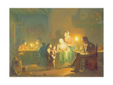 Candlelit Interior Giclee Print by Johannes Rosiere
