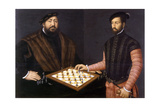 John Frederick the Magnanimous Playing Chess, 1552 Giclée-Druck von Jan Cornelisz Vermeyen