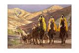 Journey of the Magi, C.1894 Giclée-tryk af James Jacques Joseph Tissot