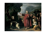 Moses Striking the Rock Giclée-Druck von Jan Victors