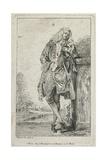 Figures De Mode: Homme Debout Acconde Giclee Print by Jean Antoine Watteau