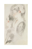 Two Studies of a Woman Giclee Print by Jean Antoine Watteau