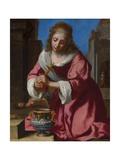 Saint Praxedis ジクレープリント : ヨハネス・フェルメール