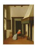 Interior with Seated Woman, C.1660 Lámina giclée por Jacobus Vrel