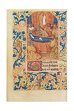 Ms Latin 13305 Fol.88V the Death of the Virgin, from 'Heures a L'Usage De Rome', C.1465 Giclee Print by Jean Fouquet