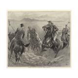 Officers Playing Polo in the Sand, Where Is the Ball Impressão giclée por John Charlton