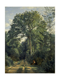 Ville D'Avray: Entrance to the Wood, C.1825 Giclee Print by Jean-Baptiste-Camille Corot