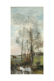 Copse of Alder and Birch, 1865-70 Giclee Print by Jean-Baptiste-Camille Corot
