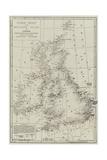 Wreck Chart of the British Isles for 1868 Giclée-Druck von John Dower