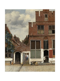 View of Houses in Delft, known as 'The Little Street', C.1658 ジクレープリント : ヨハネス・フェルメール