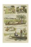 Up the Thames in Summer Time Giclee-trykk av John Charles Dollman
